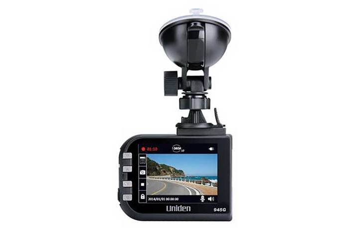 2 Dash Camera with GPS & Lane Departure Warning CAM945G security camera uniden