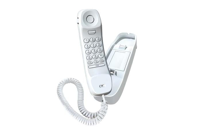 2 white corded caller id phone 1260 corded phones uniden
