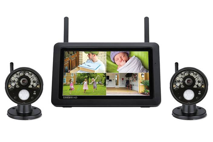 "Wireless 1080p Security System with 2 x Outdoor Cameras + 7"" Monitor - UDR777HD"
