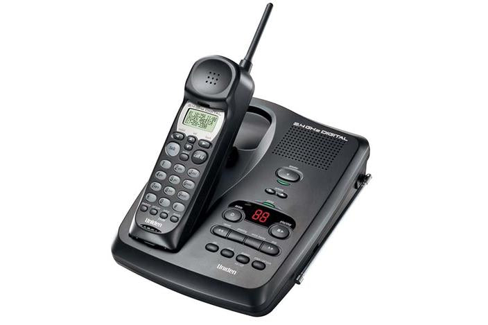 2.4GHz digital spread spectrum EXR2480 cordless phone uniden