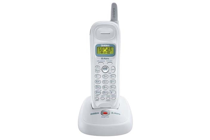 2.4GHz extended range cordless phone white EXI7246 cordless phones uniden