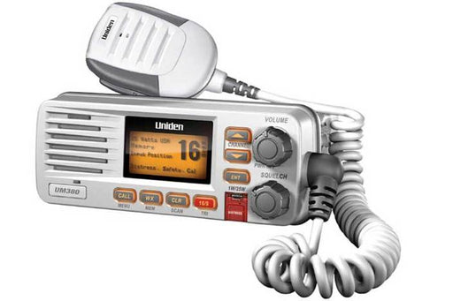 25watt fixed mount marine radio white DSC UM380 marine radio uniden