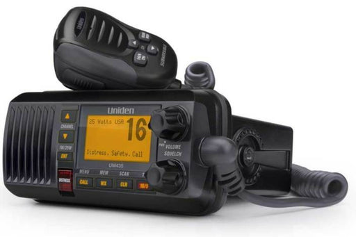 25watt full featured fixed mount VHF black marine radio UM435BK marine radios uniden