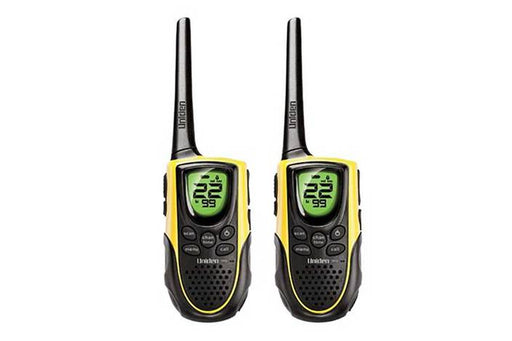 2x18 mile GMRS radios and charging cradle GMR1838-2 walkie talkie uniden