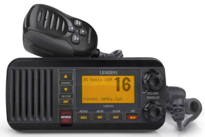 3 25watt full featured fixed mount VHF black marine radio UM435BK marine radios uniden