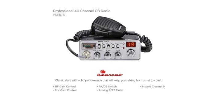 3 CB Radio 40 channel PC68LTX cb radios uniden