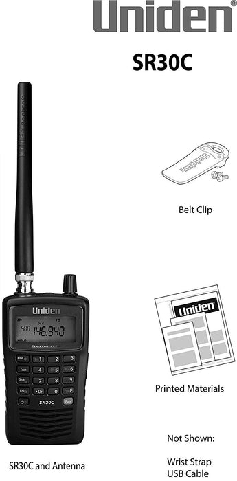 SR30C Bearcat Scanner Uniden Package