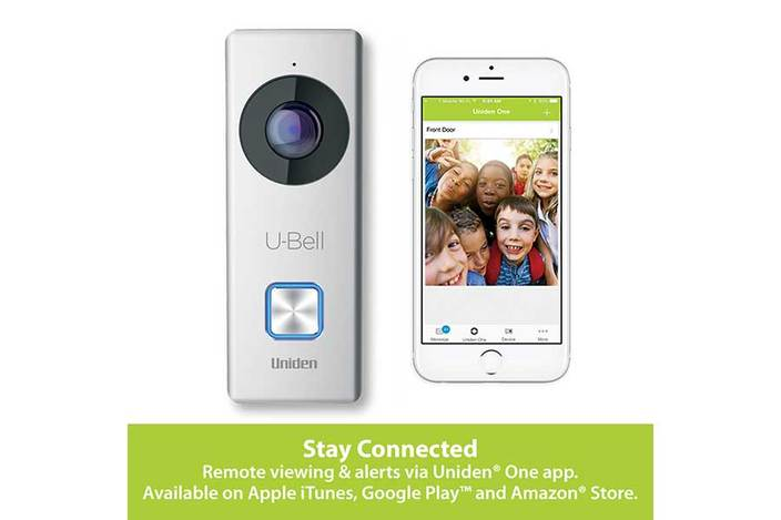 5 u bell wireless video doorbell DB1 security cameras uniden