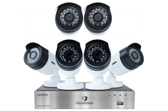 6 wired security system with 8 cameras G6860D2 security system uniden