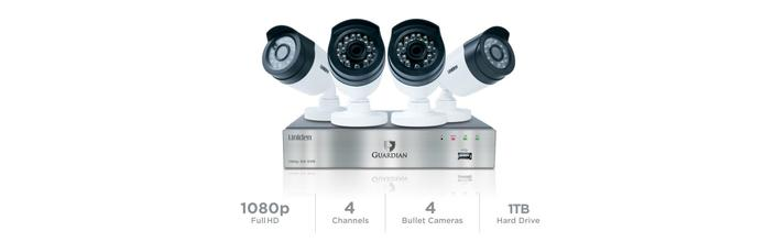 6 wired security system with night vision G6840D1 security system uniden