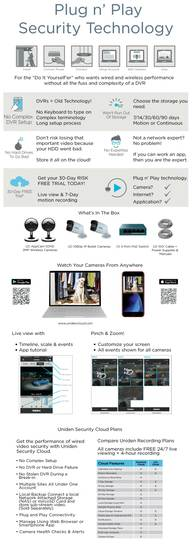 7 outdoor security cloud system 4 camera UC4202 security system uniden