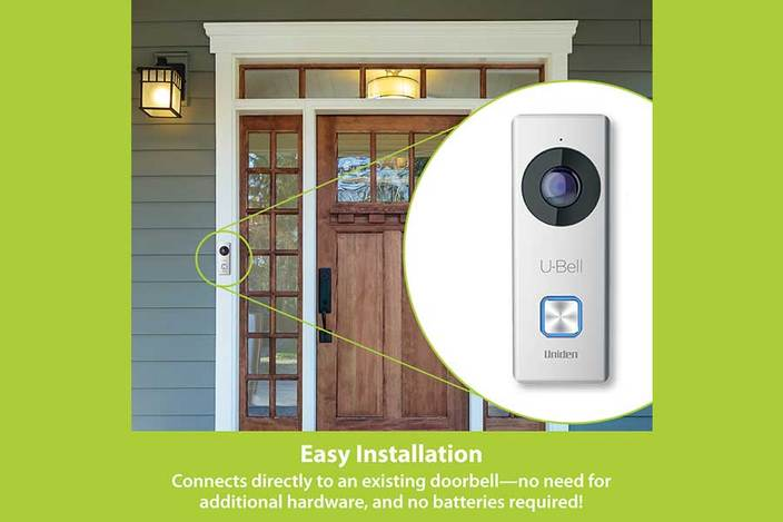 7 u bell wireless video doorbell DB1 security cameras uniden