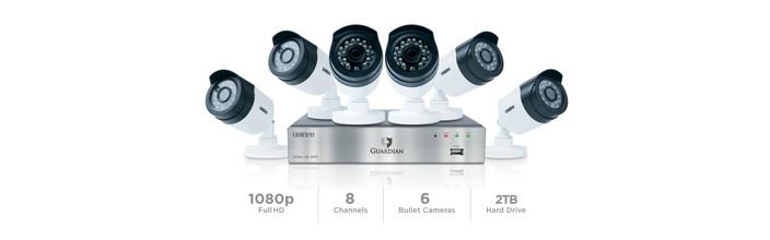 7 wired security system with 8 cameras G6860D2 security system uniden