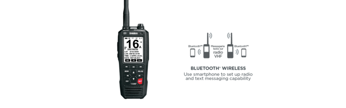 9 6watt class d floating handheld vhf bluetooth marine radio MHS335BT marine radio uniden