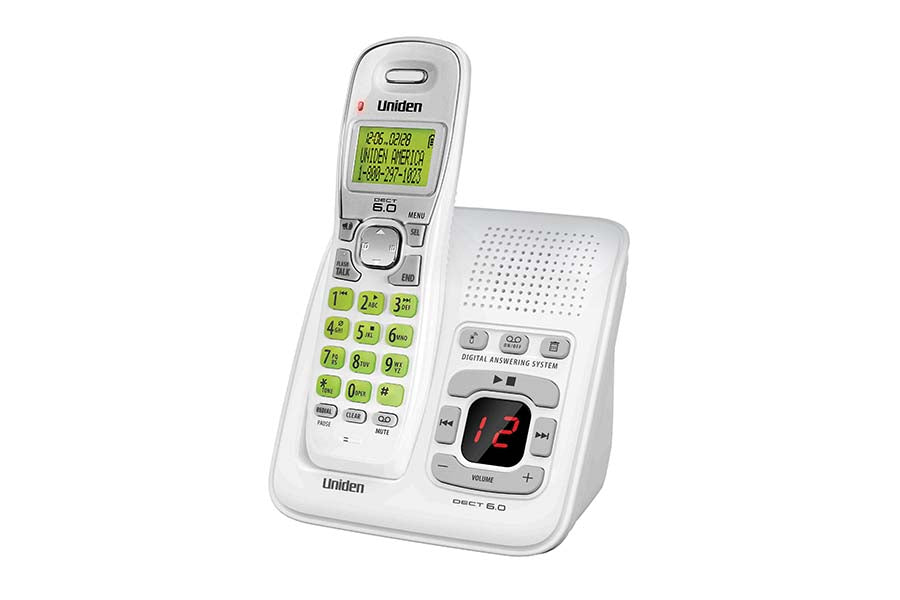 DECT 6.0 Cordless Answering System with Caller ID and Handset Speakerphone (White)