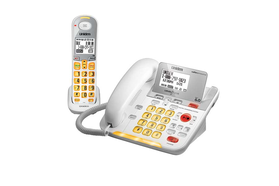 DECT 6.0 Corded/Cordless Phone with Digital Answering System and Amplified Audio