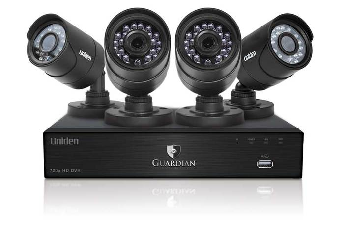 DVR 4 channel 4 cam security system B6440D2 security system uniden