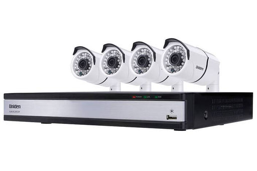 DVR security system 4 camera 720P UDVR85x4 security system uniden