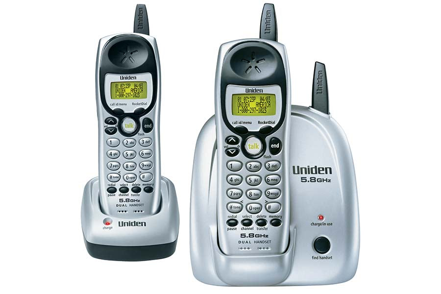 5.8 GHz Extended Range Cordless Phone with Caller ID - Dual Handset