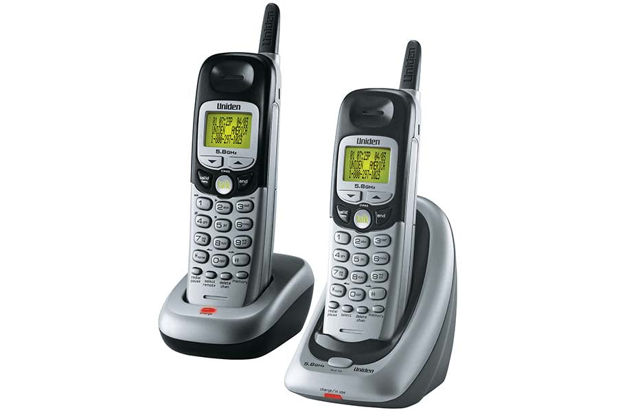 5.8GHz Analog Extended Range Caller ID with Extra Handset and Charger DXI5586-2