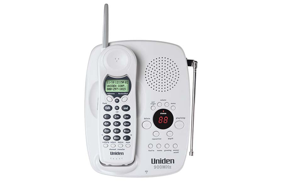 900 MHz Cordless Phone with Extended Range & One Touch RocketDial (White)