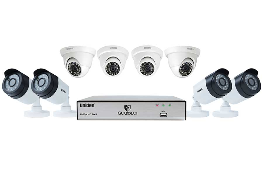 8 Channel 8 Cam 1080p Wired Security System 100' Night Vision 2TB HD