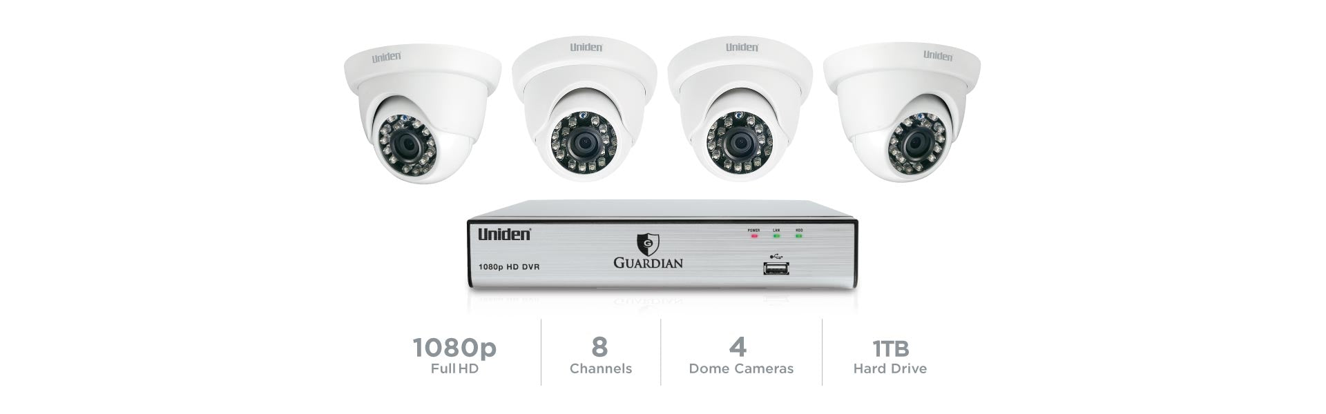 3 Guardian G7804D1 Wired Video Surveillance System