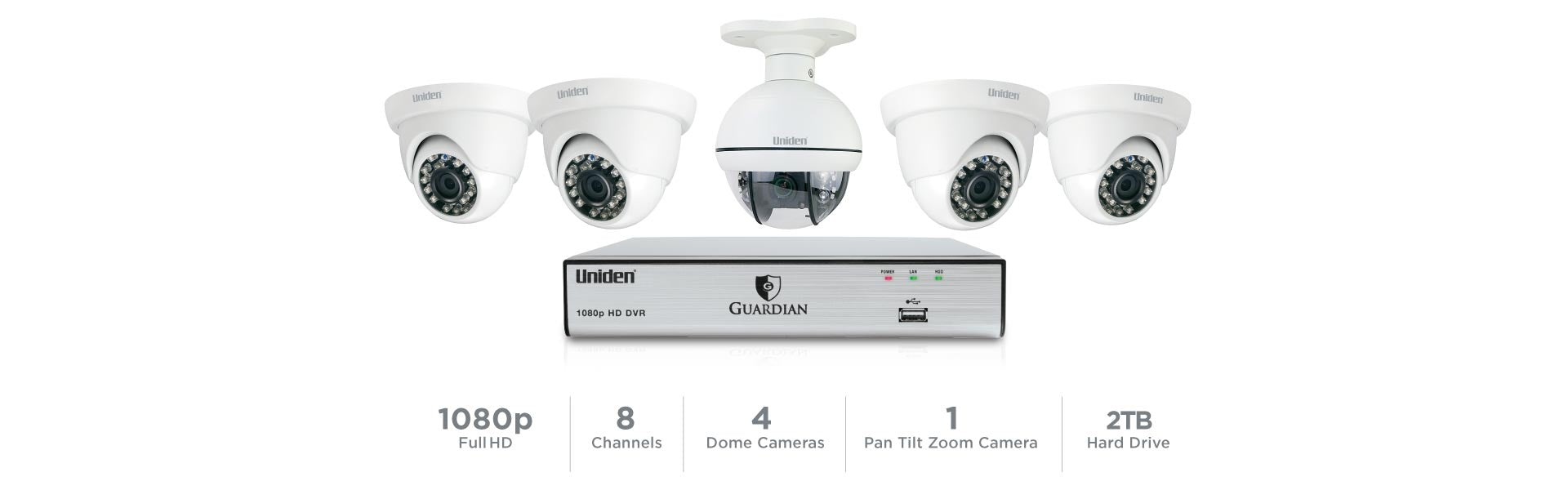6 Guardian G7805D2 Wired Video Surveillance System