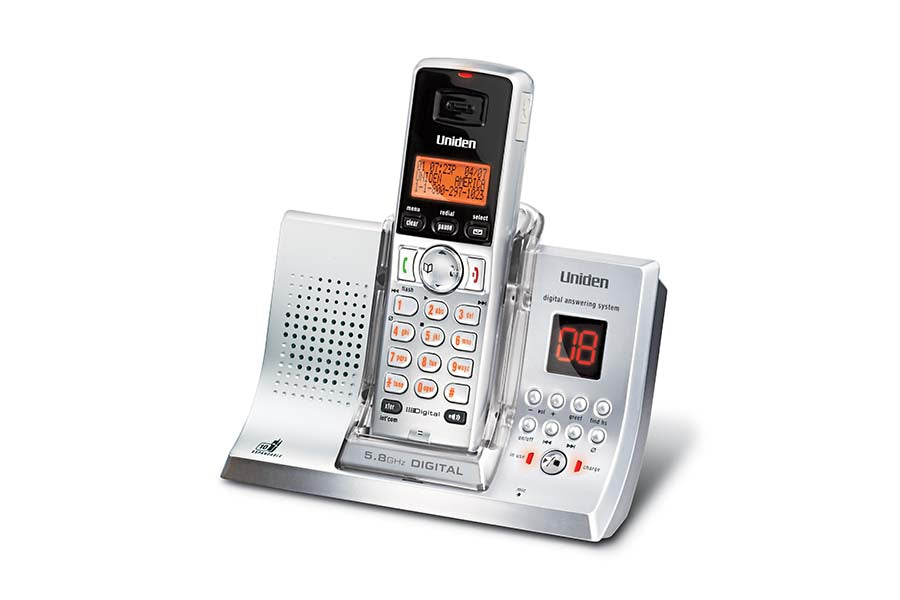 5.8GHz Digital (FHSS) Expandable Cordless Phone with Digital Answering System
