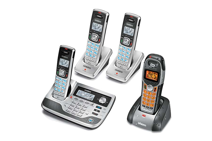 5.8GHz Digital Cordless Answering System & Extra 2 Handsets/Chargers + 1 Bonus Waterproof Handset/Charger