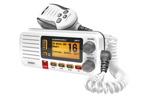 advanced fixed mount VHF marine radio white DSC UM415 marine radio uniden