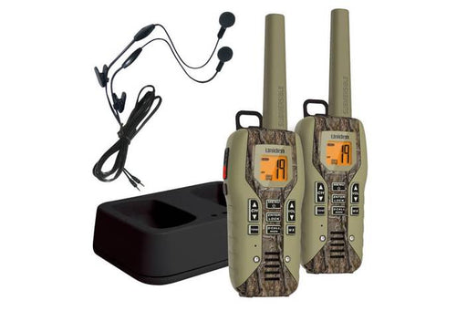 camo two way radio charger and headset GMR5088-2CKHS walkie talkie uniden