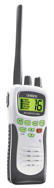 handheld two way marine radio Atlantis250G marine radio uniden