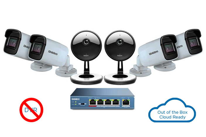 indoor outdoor 6 camera security system UC4402 security system uniden