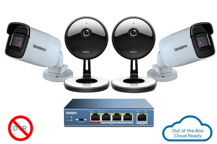 outdoor security cloud system 4 camera UC4202 security system uniden