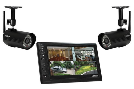 portable 7 inch monitor with 2 cameras UDS655 security systems uniden