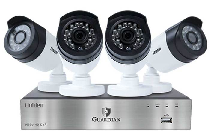 premium 4 channel 4 camera DVR GC7440D1 security system uniden