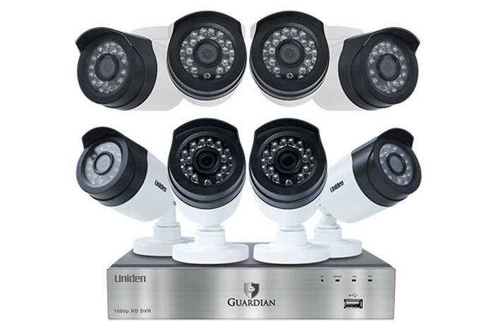 premium 8 channel 8 camera DVR GC7880D3 security system uniden