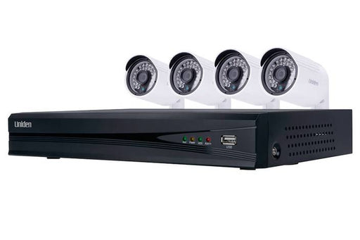 security system 4 camera 1080P UNVR85x4 security system uniden
