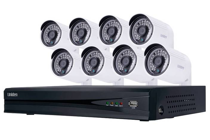 security system 8 camera 1080P UNVR85x8 security system uniden