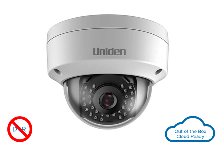 single 1080P outdoor tamper proof dome wired cloud camera UC100D DC cloud camera uniden