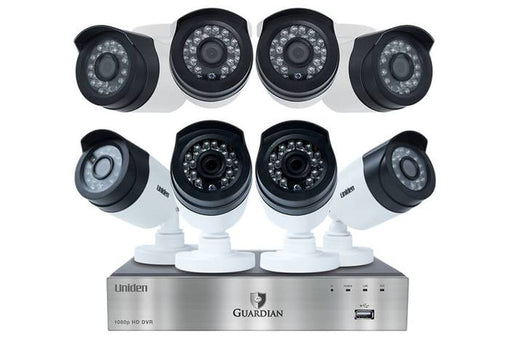 wired security system 8 channel 8 cam G6880D2 cloud cameras uniden