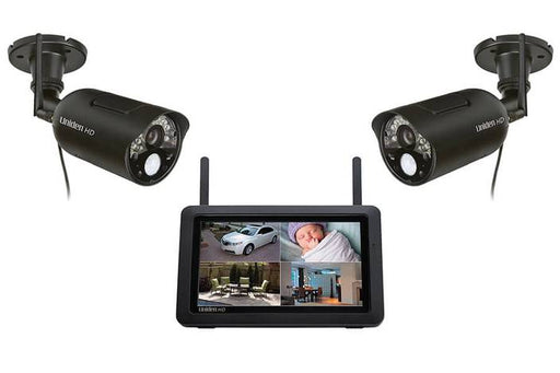 wireless 720P security system with 2 outdoor cameras UDR744HD security cameras uniden