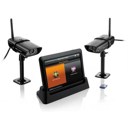 wireless VGA security system with 2 cameras and monitor G755 security camera uniden