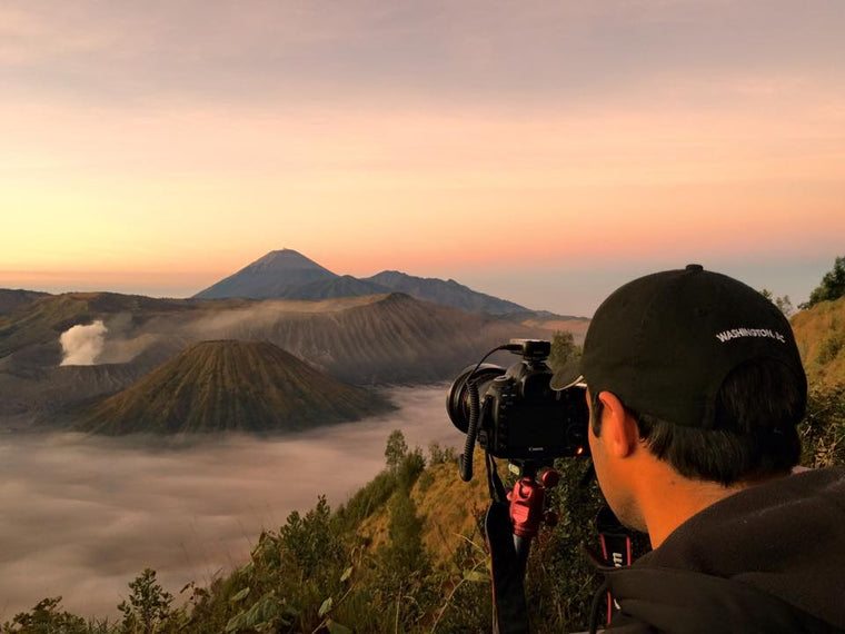 Michael Haluwana Aeroture Photo of Active Volcano Photography Tour Java Mount Bromo