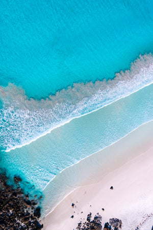 Beautiful Ocean and waves and White sand BEach in Bremerbay Western Australia by Aeroture Michael Haluwana