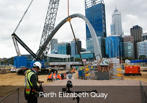 Aeroture Michael Haluwana working for City Of Perth Western Australia Elizabeth Quay Contruction
