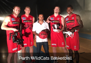 Aeroture Michael Haluwana working with Perth Wildcats Basketball Team NBL Australia Western Australia