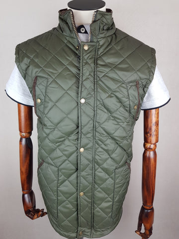 Quilted Gilet Green By Vedoneire
