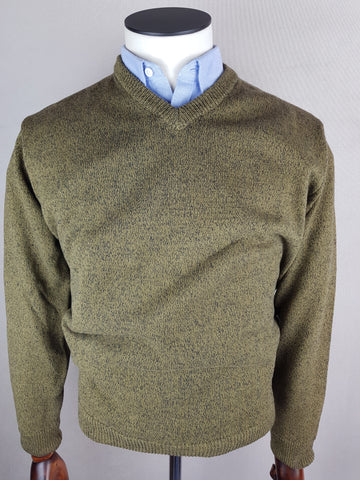 V Neck Knitwear Moss Green By Tricot Denim DA 1822M-406 *OS.MY*